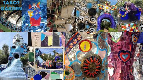 Tarot Garden of Niki de Saint Phalle (collage by Arnell