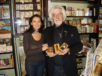 Osvaldo in iL Meneghello with Maurizia