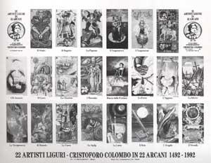 Uncut Tarot Deck sheets as Posters
